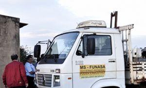 Técnicos da Funasa realizam limpeza em poços artesianos de Alto Taquari (Crédito: Reprodução)