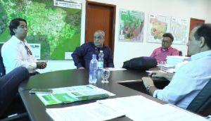 Secretário de Administração de Água Boa recebe equipe técnica da AMM (Crédito: Reprodução)