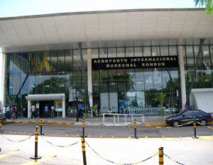 Governo terá que ampliar espaço de desembarque no aeroporto de Cuiabá para destravar voo internacional (Crédito: Reprodução)