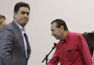 Prefeito Emanuel Pinheiro aproveitou exposição de Carlos Bezerra em evento para criticar Mauro Mendes (Crédito: REPRODUÇÃO)
