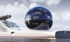 Navio maior que o Titanic será movido a energia nuclear e custa R$ 3,5 bilhões (Crédito: Reprodução)