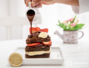 Doceria cuiabana faz sucesso com 'lasanha de brownie e oreo' e taças especiais (Crédito: Reprodução)