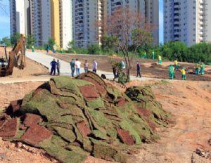 Construção do Parque da Família segue em ritmo acelerado (Crédito: Reprodução)