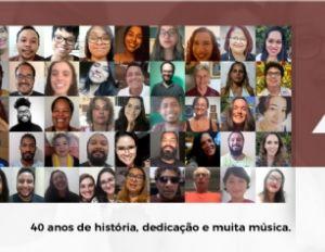 Coral da UFMT lança trabalho virtual em comemoração aos seus 40 anos e homenageia Caetano Veloso (Crédito: Reprodução)