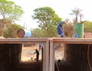 Obras da nova estrutura sobre o Córrego Sucuri entram na fase final