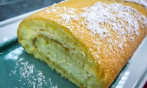 Rocambole de Cheesecake de Morango (Crédito: Gshow)
