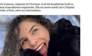 Mãe conta como adolescente francesa de 16 anos morreu de quadro fulminante da Covid-19 (Crédito: Reprodução)