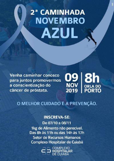 Complexo Hospitalar de Cuiabá realiza 2ª Caminhada 'Novembro Azul' neste sábado