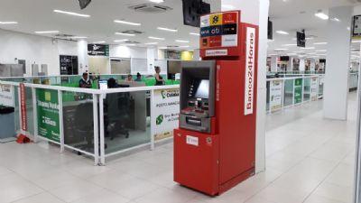 Agora os associados, clientes e amigos do Shopping Popular Cuiabá, podem contar com o serviço de Caixa Eletrônico 24HORAS, traz facilidade e segurança, inclusive com a biometria, que facilita a vida dos clientes.