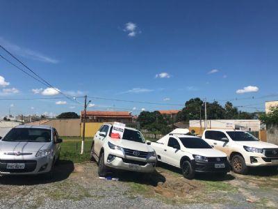 PM recupera veículos roubados avaliados em mais de 450 mil em barracão no Goiabeiras