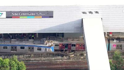 Colisão entre trens deixa oito feridos na Zona Norte do Rio