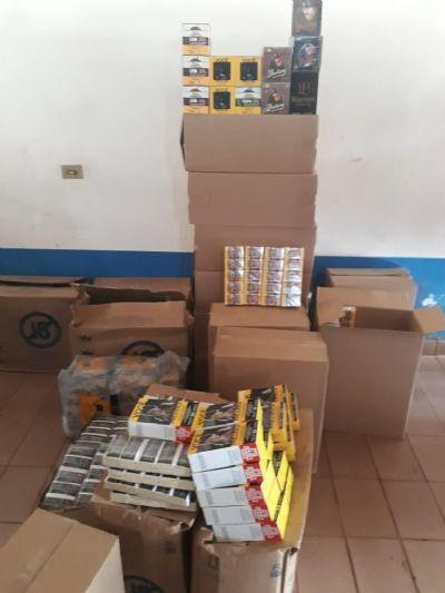Casal é preso pela PM com produtos de contrabando no Distrito de Indianópolis