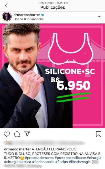Marcos Harter é investigado pelo CRM-MT por divulgar preços de cirurgias plásticas nas redes sociais
