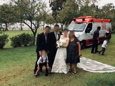 Secretaria de Saúde apura ambulância do Samu em festa de casamento no interior de SP