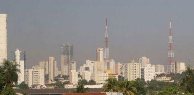 Previsão indica que Cuiabá terá temperaturas altas e umidade do ar em 10%