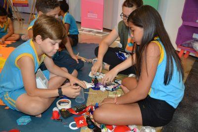 Alunos da rede pública de ensino de Cuiabá participam de exposição e laboratório de invenções
