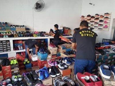 Operação apreende mais de 370 calçados falsificados vendidos a R$ 50 em Cuiabá