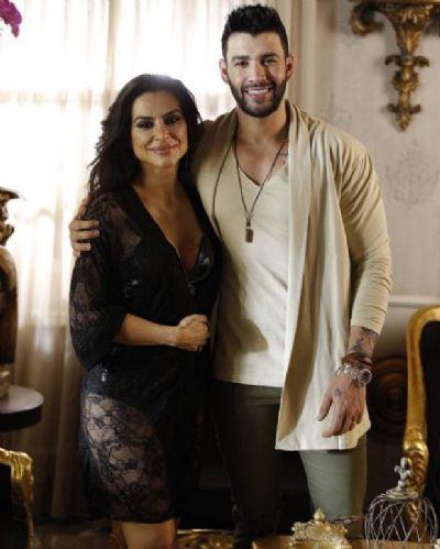 Cleo Pires aparece de lingerie ao lado de Gusttavo Lima em gravação de clipe