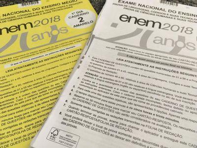 Em MT, 34,2% dos candidatos faltam no 2º dia de provas do Enem 2018