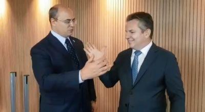 Em encontro em Brasília, Mauro e Witzel prometem integrar polícias de MT e RJ