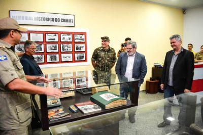 Corpo de Bombeiros comemora 55 anos com inauguração de Memorial Histórico