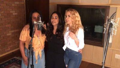Joelma grava música gospel com Rose Nascimento e Raquel Pereira