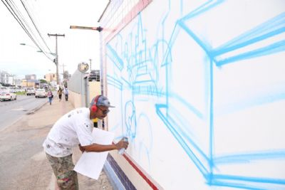 """Artes em grafite que homenageia """"Cuiabá 300 anos"""" será lançada nesta segunda-feira"""