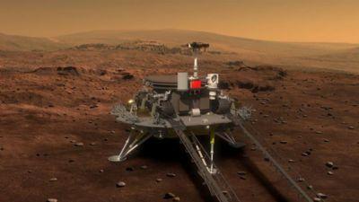 Nave espacial chinesa pousa em Marte; veja momento exato