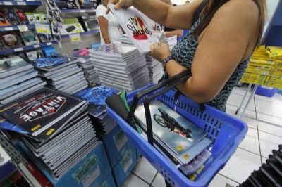 CDL Cuiabá acredita em incremento de aproximadamente 5% nas vendas de materiais escolares